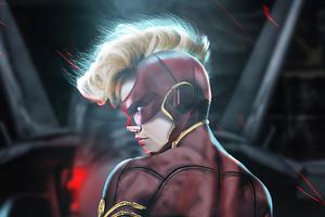 Captain Marvel Artwork Brie Wallpaper