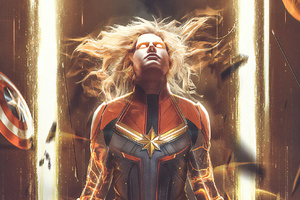 Captain Marvel Bosslogic Art