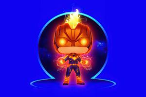 Captain Marvel Chibi 4k