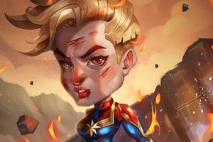 Captain Marvel Chibi Wallpaper