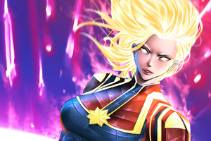Captain Marvel Colorful Art