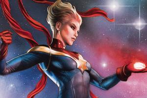 Captain Marvel Comic Book Art