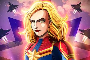 Captain Marvel Comic Poster 4k Wallpaper