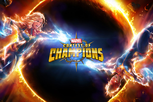 Captain Marvel Contest Of Champions Wallpaper