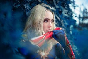 Captain Marvel Cosplay 5k