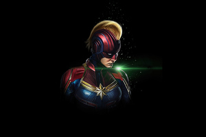 Captain Marvel Dark 4k Wallpaper