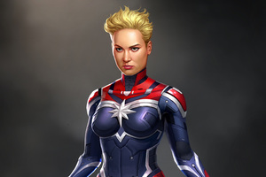 Captain Marvel Digital Art