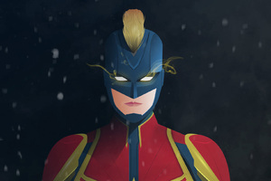 Captain Marvel Digital Artwork