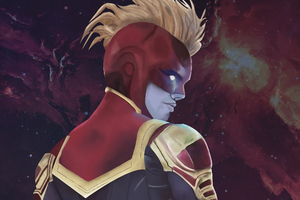 Captain Marvel Digital Artwork New