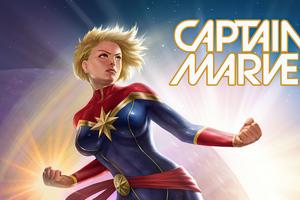 Captain Marvel Fan Artwork 4k Wallpaper