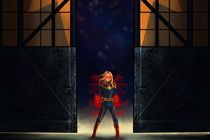 Captain Marvel Fan Digital Art