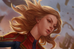 Captain Marvel Fantasy Art