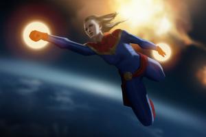 Captain Marvel Fly Wallpaper