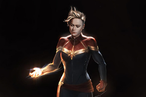 Captain Marvel Hd Art