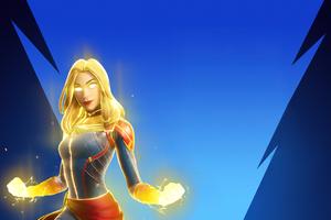 Captain Marvel In Fortnite 4k Wallpaper
