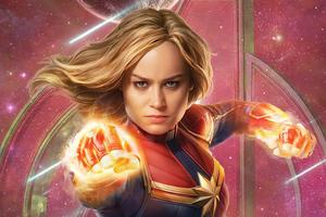 Captain Marvel Infinity Saga 5k Wallpaper