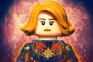 Captain Marvel Lego 4k Wallpaper