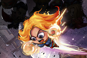 Captain Marvel Little Art Wallpaper