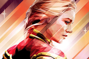 Captain Marvel Low Poly Art