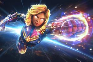 Captain Marvel Marvel Contest Of Champions Wallpaper