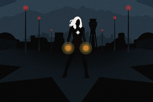 Captain Marvel Minimal Poster Wallpaper