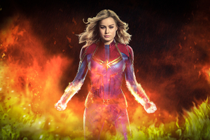 Captain Marvel Movie 2019 4k Art