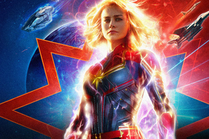 Captain Marvel Movie 2019 5k