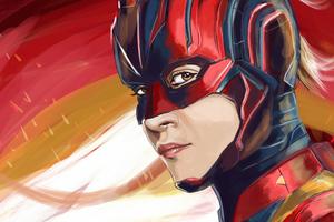 Captain Marvel New Sketch Art