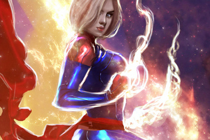Captain Marvel Newart 4k