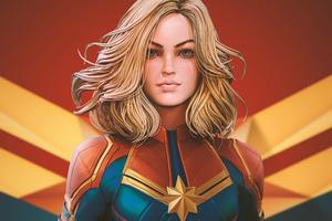 Captain Marvel Newartwork Wallpaper