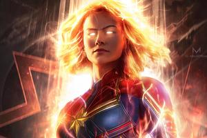 Captain Marvel Official Art 4k
