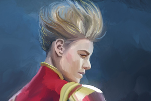 Captain Marvel Paint Art