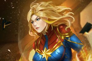 Captain Marvel Superhero 4k Wallpaper