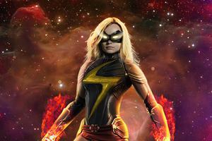 Captain Marvel The Warbird 4k Wallpaper