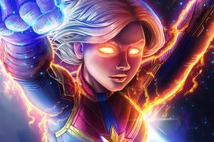 Captain Marvel Unleash Powers