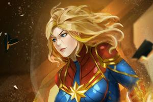 Captain Marvelart Wallpaper