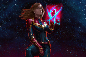 Captain Miss Marvel Wallpaper