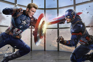Captain Vs Captain America 4k Wallpaper