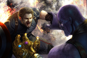 Captain VS Thanos