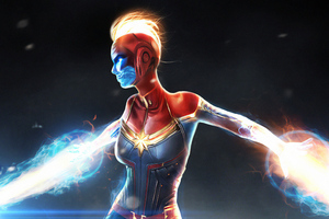 Captainmarvel Art Wallpaper