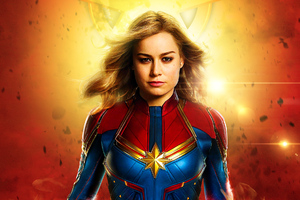 CaptainMarvel Poster Wallpaper