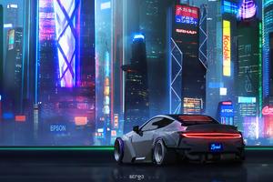 Car Cityscape Cyberpunk 4k