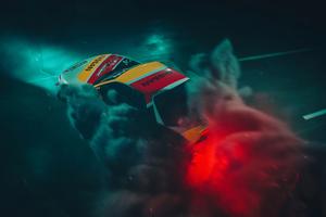 Car Drift Smoke 5k Wallpaper