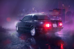 Car Raining Night