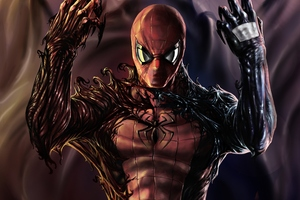 Carnage Venom Spiderman Artwork Wallpaper
