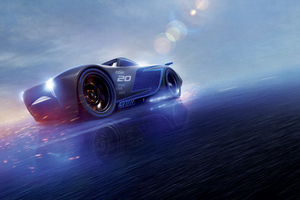 Cars 3 Jackson Storm 8k Wallpaper