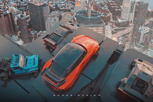 Cars Skyline 4k