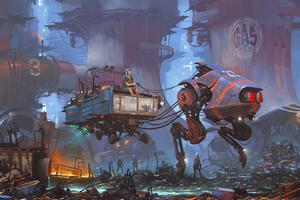Cartoneros Sci Fi Ride 4k