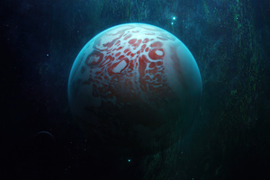 Cascading Planet 5k Wallpaper