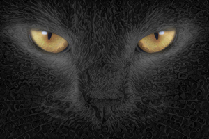 Cat Abstract Art Background Wallpaper